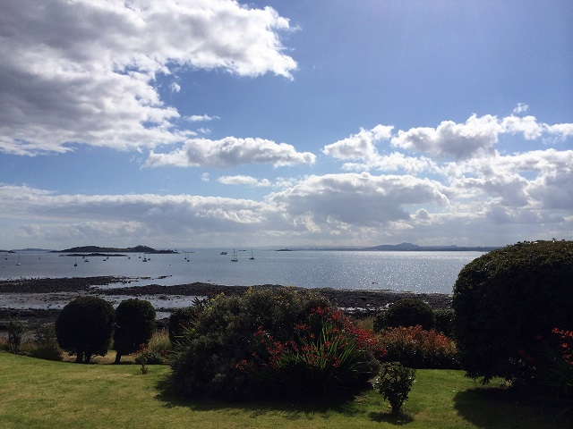 Looking across the Firth of Forth from Fife