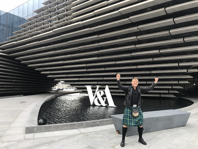 Robin at the V&A Dundee